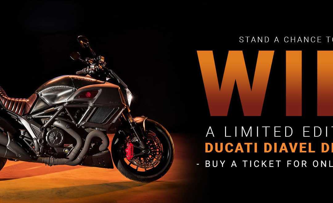 RACE AGAINST TIME – WIN A DUCATI MOTORBIKE WORTH R280 000!